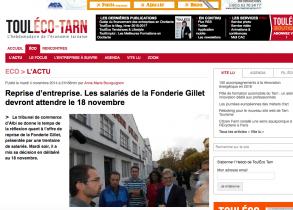 Fonderie Gillet : bientôt une Scop ? (Novembre 2014)