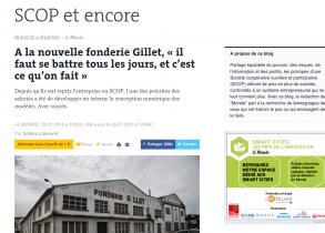 Fonderie Gillet : plus d'un an après la reprisen en Scop, le bilan (Juillet 2016)