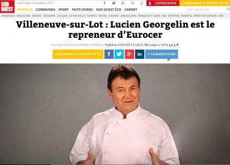 Le confiturier Lucien Georgelin reprend l'entreprise villeneuvoise. © Nathalie Albinet